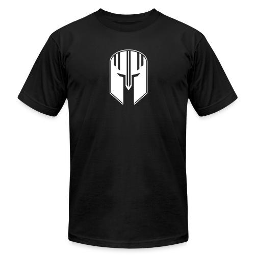White Helmet Logo - SLIM FIT - Men's Fine Jersey T-Shirt