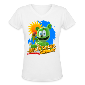 Gummibär (The Gummy Bear) It's A Great Summer Ladies V-Neck T-Shirt - Women's V-Neck T-Shirt
