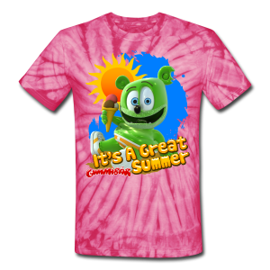 Gummibär (The Gummy Bear) It's A Great Summer Unisex Tie Dye T-Shirt - Unisex Tie Dye T-Shirt