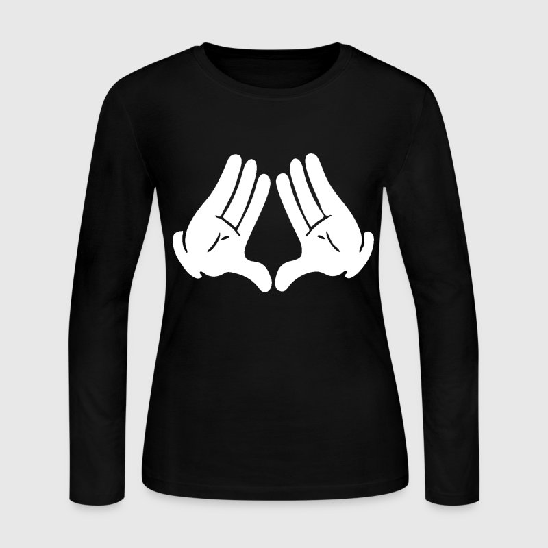 Most Dope Diamond Hands Design Long Sleeve Shirts - Women's Long Sleeve Jersey T-Shirt