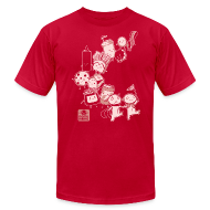 T-Shirts ~ Men's T-Shirt by American Apparel ~ BFF Parade Unisex RED