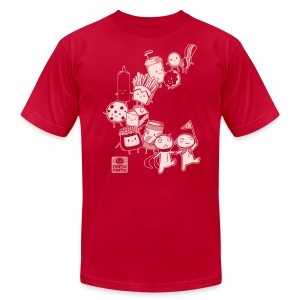 BFF Parade Unisex RED - Men's T-Shirt by American Apparel