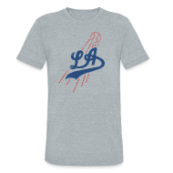 T-Shirts ~ Unisex Tri-Blend T-Shirt ~ L.A. BASEBALL