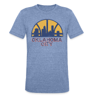 T-Shirts ~ Unisex Tri-Blend T-Shirt by American Apparel ~ OKLAHOMA CITY SONICS