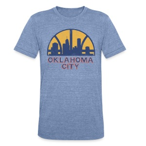 OKLAHOMA CITY SONICS - Unisex Tri-Blend T-Shirt by American Apparel