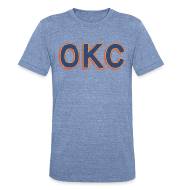T-Shirts ~ Unisex Tri-Blend T-Shirt by American Apparel ~ OKC THUNDER