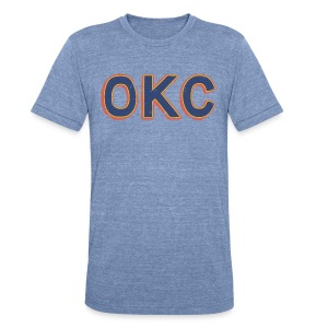 OKC THUNDER - Unisex Tri-Blend T-Shirt by American Apparel