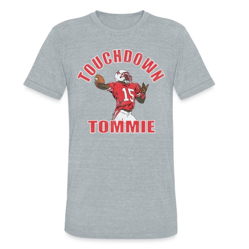 TOUCHDOWN TOMMIE - Unisex Tri-Blend T-Shirt by American Apparel