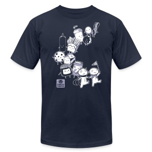 BFF Parade Unisex ANY COLOR - Men's T-Shirt by American Apparel