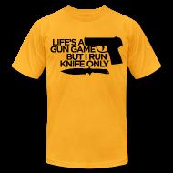 T-Shirts ~ Men's T-Shirt by American Apparel ~ Gun Game American App