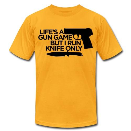 Gun Game American App - Men's Fine Jersey T-Shirt