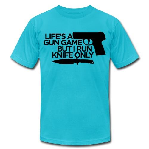Gun Game American App - Men's  Jersey T-Shirt