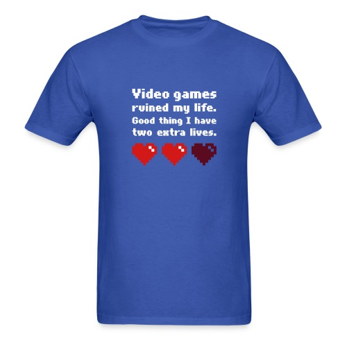 Game Life 1-Logo Blue Mens (flex print) - Men's T-Shirt