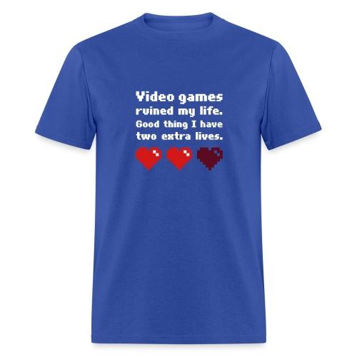 Game Life 1-Logo Blue Mens (flex print) - Men's T-Shirt