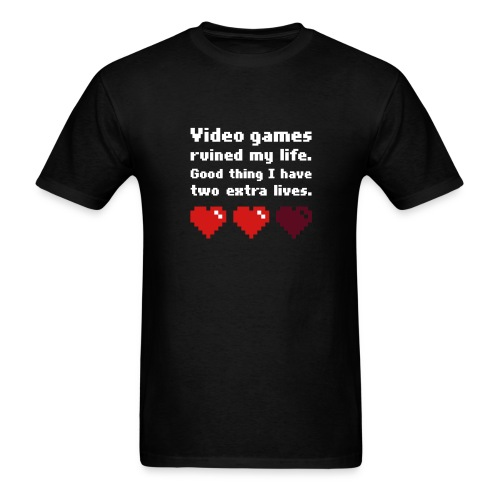 Game Life 1-Logo Black Mens (flex print) - Men's T-Shirt