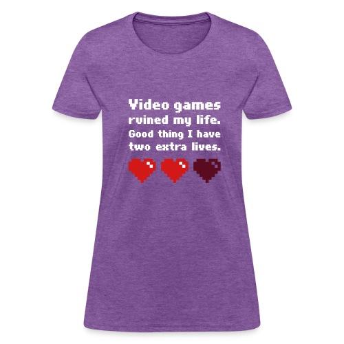 Game Life 1-Logo Grey Womens (flex print) - Women's T-Shirt