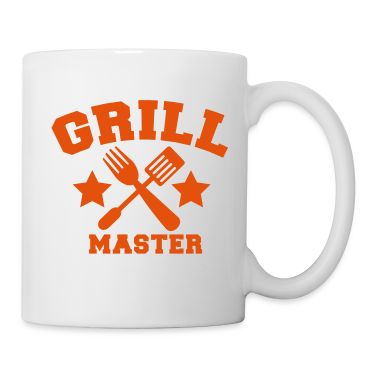 grill master BBQ barbecue design with fork and patty scraper Gift