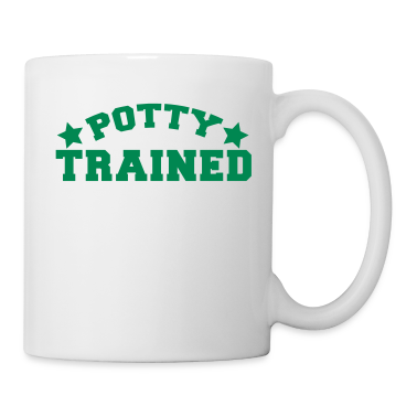 potty trained in funky college font Gift