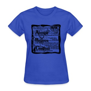 Salvation ABC's (womens) - Women's T-Shirt