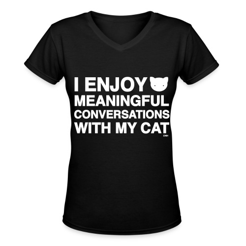 Meaningful Conversations - Women's V-Neck T-Shirt