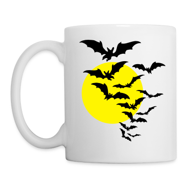 Moon & Bats TWO COLOR VECTOR Gift