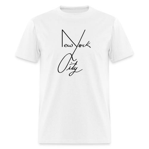 NYC shirt white  - Men's T-Shirt
