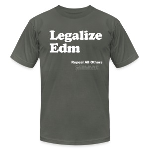 LEGALIZE EDM - Men's T-Shirt by American Apparel