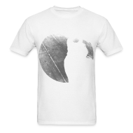 T-Shirts ~ Men's T-Shirt ~ Black & White Kitty Cat Graphic Print Classic Cut T-Shirt