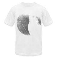T-Shirts ~ Men's T-Shirt by American Apparel ~ Black & White Kitty Cat Graphic Print Premium T-Shirt