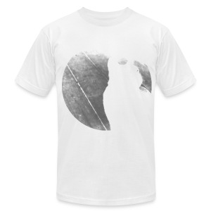 Black & White Kitty Cat Graphic Print Premium T-Shirt - Men's T-Shirt by American Apparel