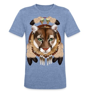 Cougar Shield - Unisex Tri-Blend T-Shirt by American Apparel