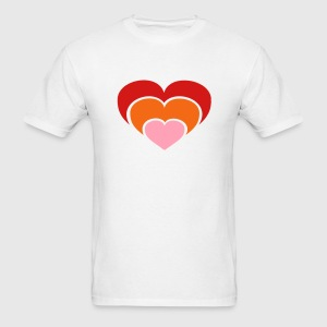 Hearts THREE COLOR VECTOR T-Shirts - Men's T-Shirt