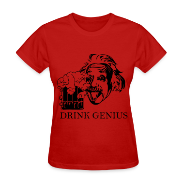 Drink Genius, Women's Standard Weight T-Shirt