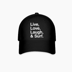 Live , love , laugh and surf Caps