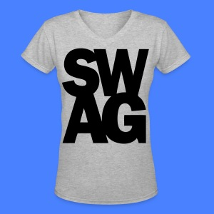SWAG Women's T-Shirts - stayflyclothing.com - Women's V-Neck T-Shirt