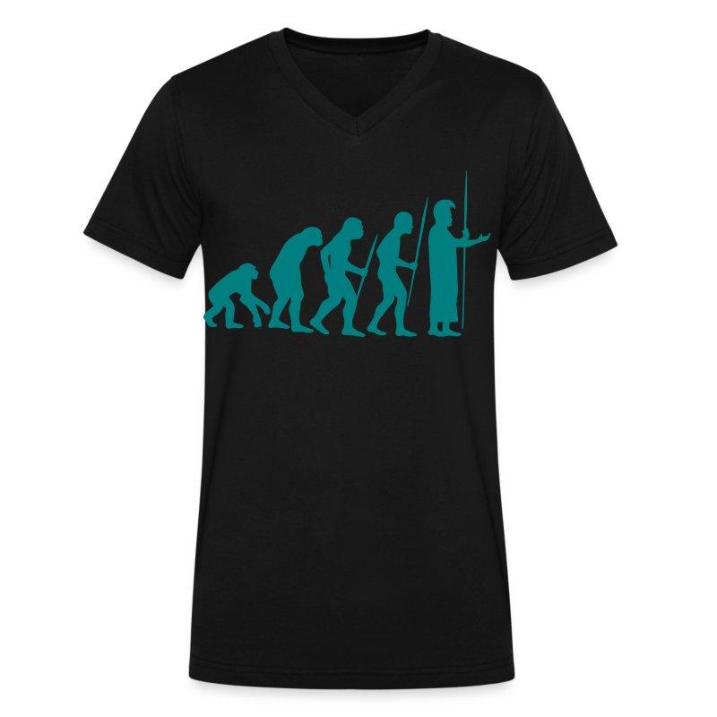 March of Kamehameha - Men's V-Neck T-Shirt by Canvas