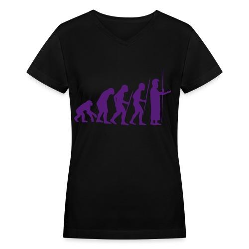 March of Kamehameha - Women's V-Neck T-Shirt