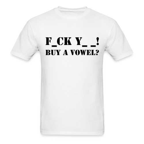 Buy a vowel? - Men's T-Shirt
