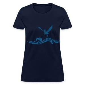 Women's Navy Blue Pelican T-Shirt - Women's T-Shirt