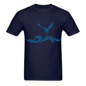 Navy Blue Pelican T-Shirt for Men - Men's T-Shirt