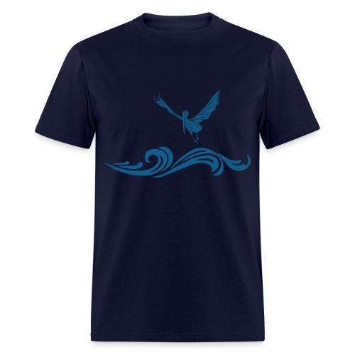 Navy Blue Pelican T-Shirt for Men - Men's T-Shirt