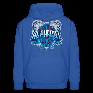 Hoodies ~ Men's Hoodie ~ Alphacat Men's Hooded Sweatshirt - Royal Blue