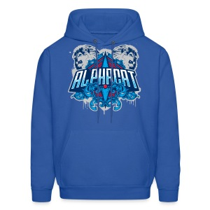 Alphacat Men's Hooded Sweatshirt - Royal Blue - Men's Hoodie