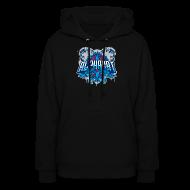 Hoodies ~ Women's Hoodie ~ Women's Alphacat Hooded Sweatshirt - Black