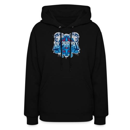 Women's Alphacat Hooded Sweatshirt - Black - Women's Hoodie