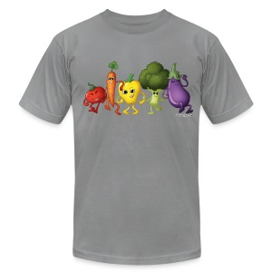 Men's Veggie Rainbow T-Shirt - Men's T-Shirt by American Apparel