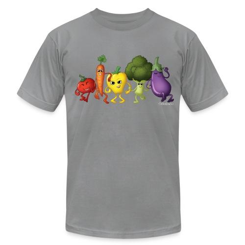 Men's Veggie Rainbow T-Shirt - Men's Fine Jersey T-Shirt