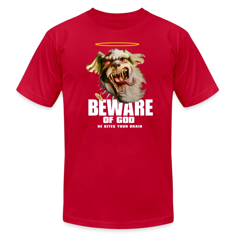 Beware of god - Men's T-Shirt by American Apparel