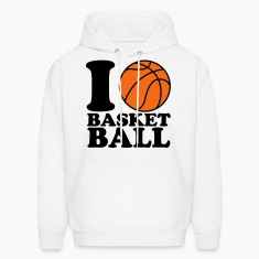 I Love Basketball Hoodies