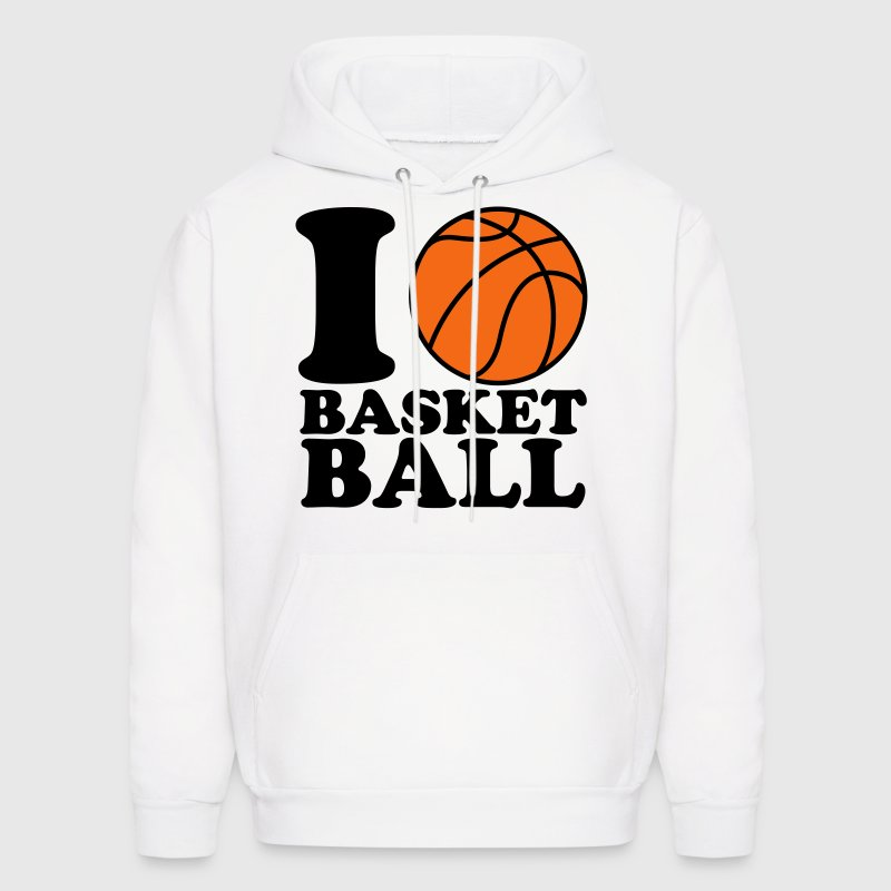 I Love Basketball Hoodies - Men's Hoodie